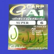 Гачок Gamakatsu A1 G-CARP CAMOUGREEN SUPER №6  10шт.